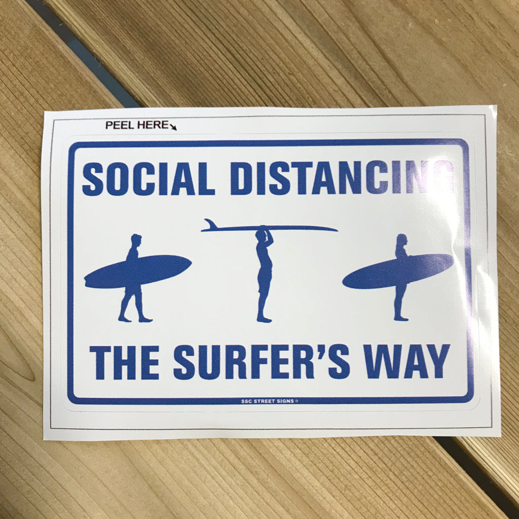 Stickers - Social Distancing Stickers - The Surfer's Way
