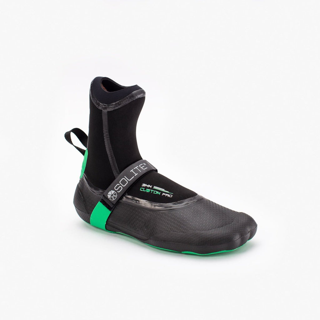 Booties 3mm SOLITE Custom Green Pro /Black 2020 (inc. heat sock boosters)