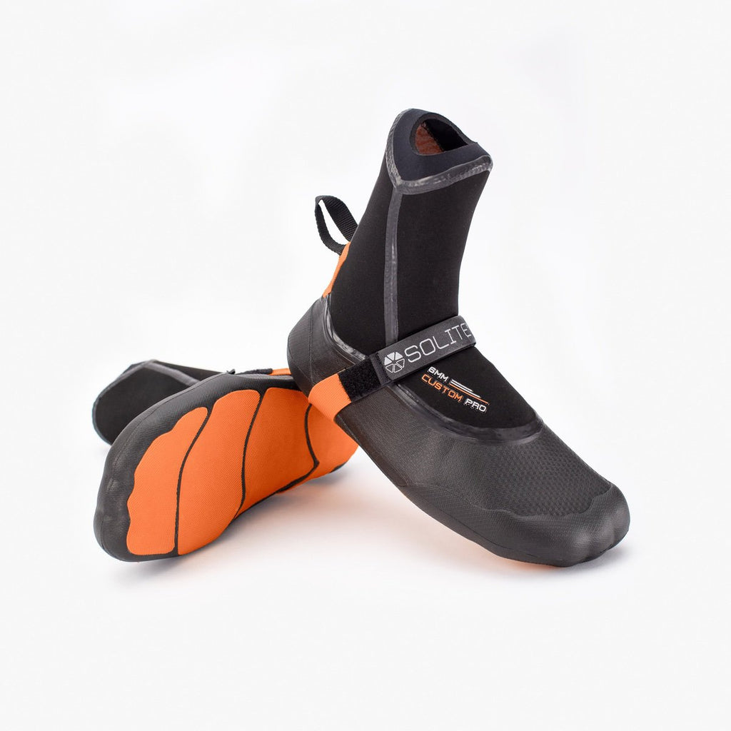Booties 6mm SOLITE Custom Pro Orange/Black (inc. heat sock boosters)