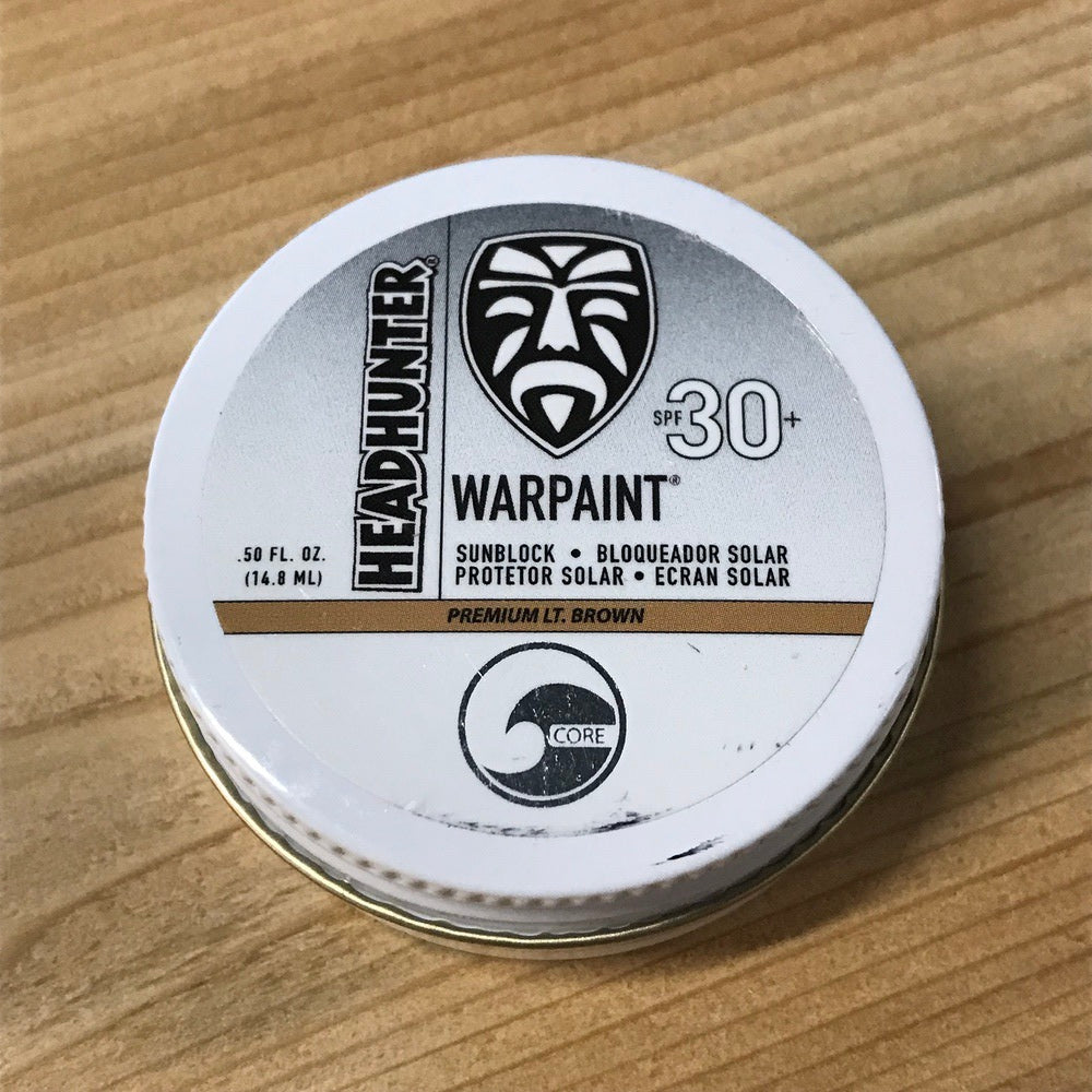 Sunscreen - Headhunter War Paint SPF 30 Lt. Brown 0.5oz