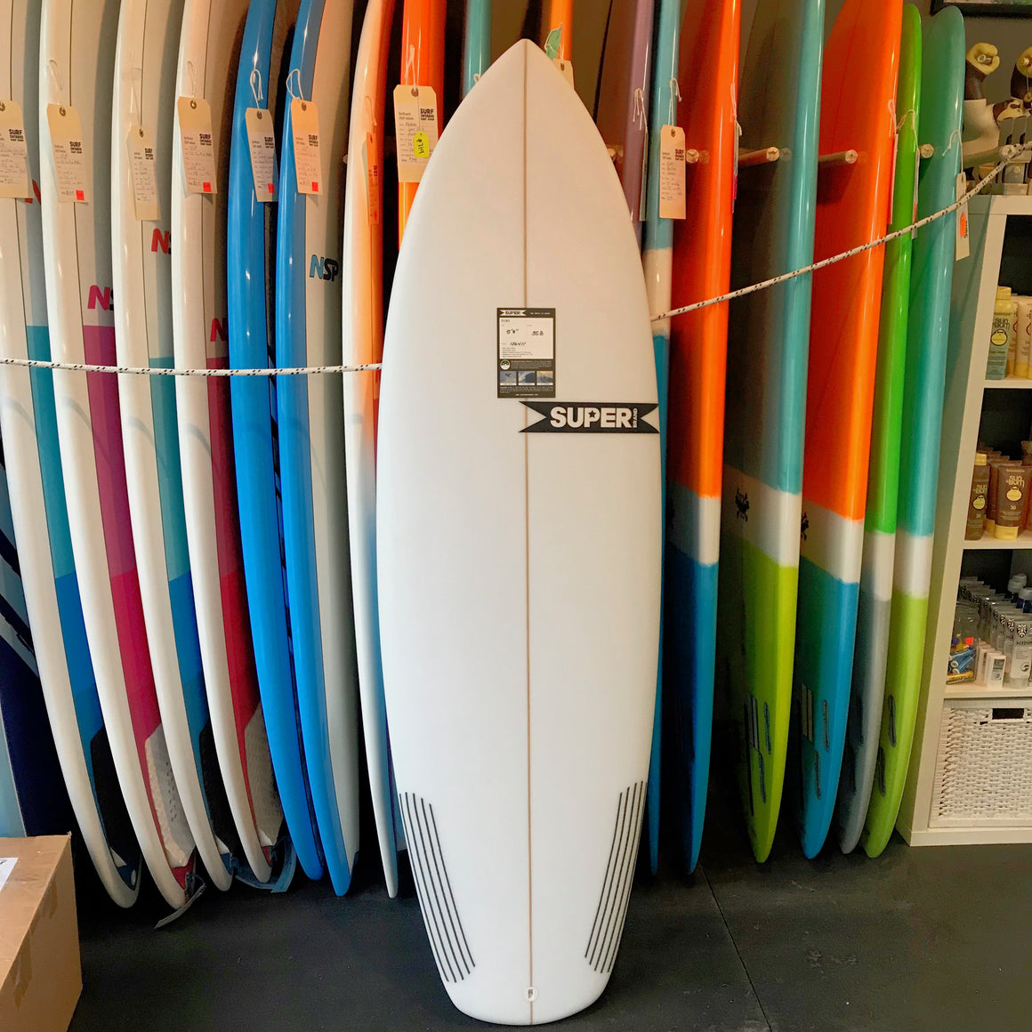 Super Brand Fling 5'8 - 5-FCSII - Colour - CLEAR - Carbon Tail - Surf Ontario
