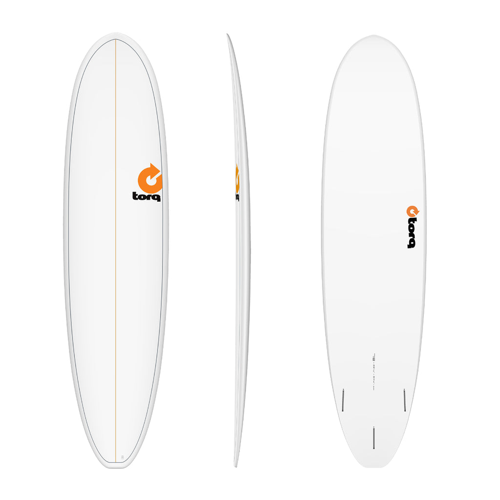 Torq 7'8 V+ Funboard - White + Pineline