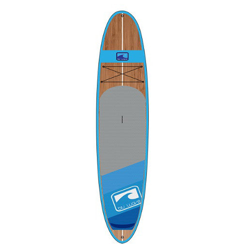 Blu Wave - The Woody 10.6 - Neon Blu Bamboo SUP - Surf Ontario
