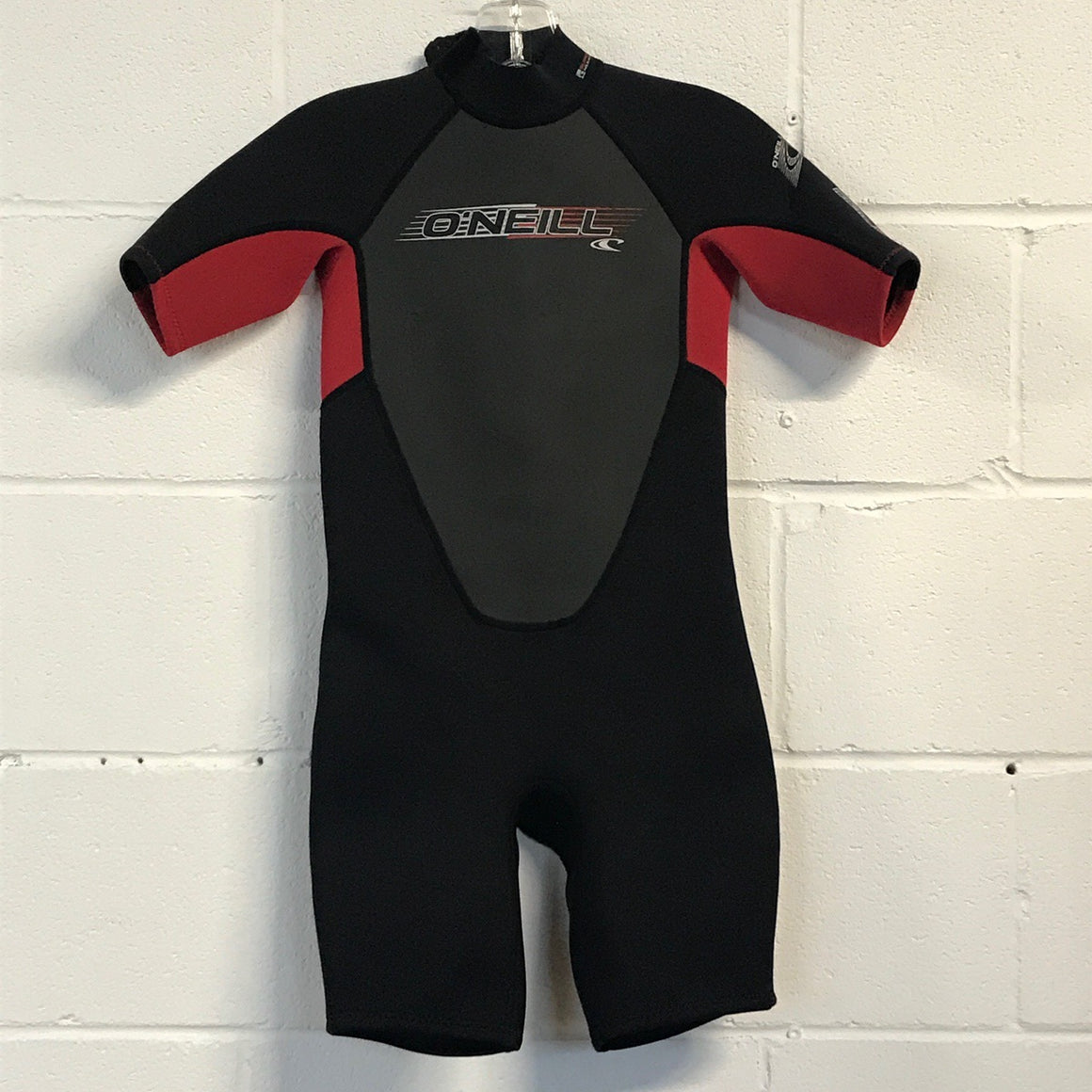 2mm O'Neill Youth Springsuit  Red/Black - Size 12 - USED*