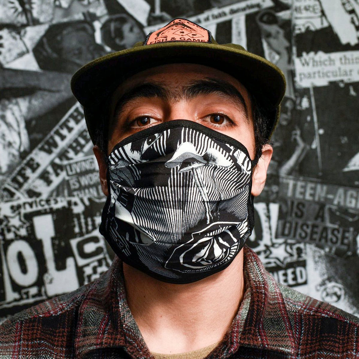 Volcom Face Mask - White Black