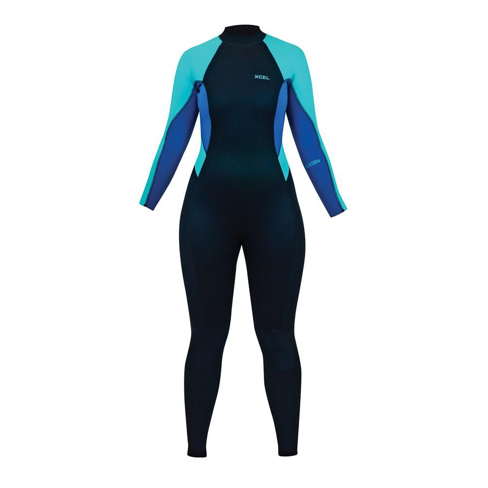 3/2mm Women's XCEL AXIS Fullsuit Flatlock L/S Back Zip