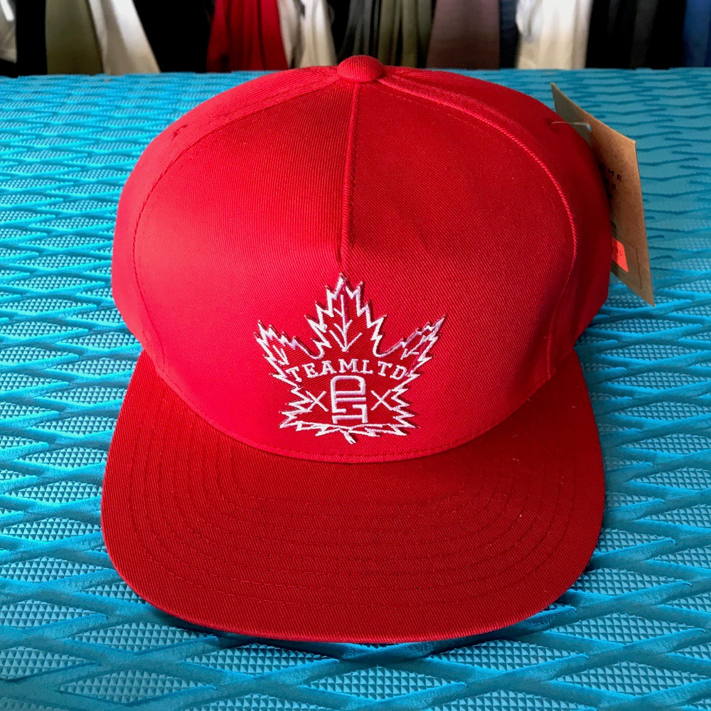 Caps - Team LTD Logo Maple Leaf on Red - Surf Ontario