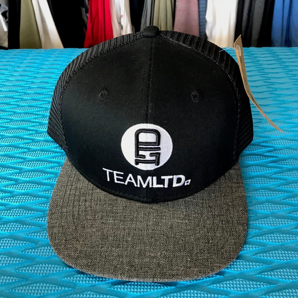 Caps - Team LTD Logo White on Black - Surf Ontario