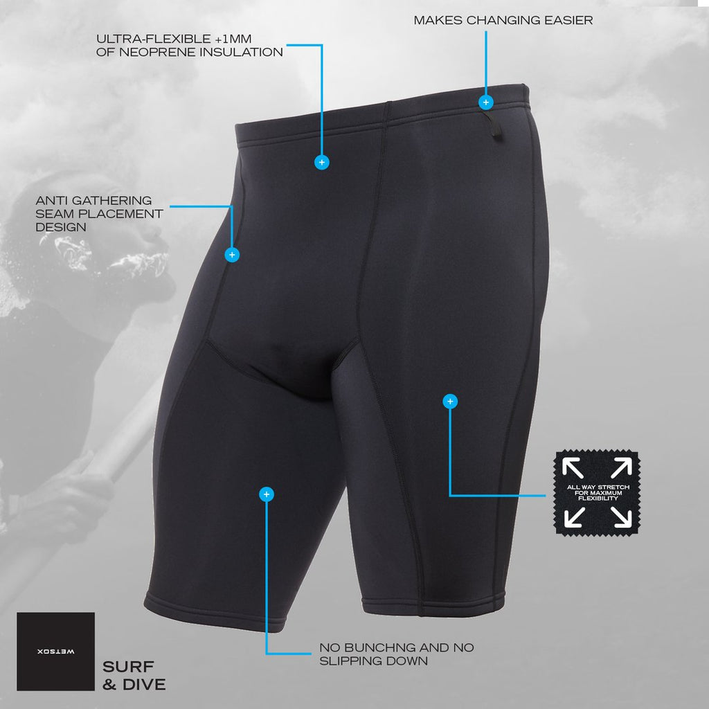 1mm Shorts Wetsox SUIT SKINS SHORTS