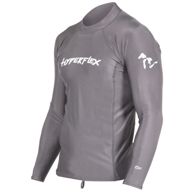 Mens Rashie Hyperflex Fresh Connection Rashguard L/S - Grey