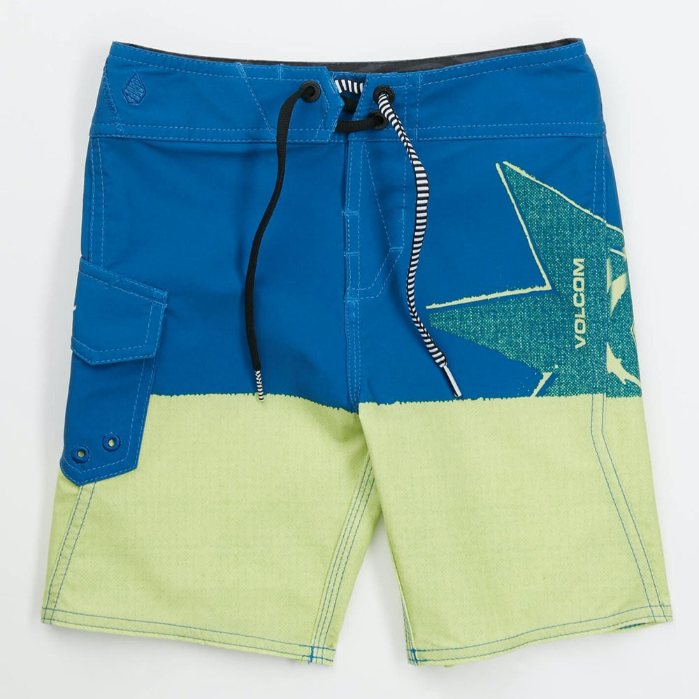 Boardshorts - Volcom Lido Block Mod - Blue/Yellow - Surf Ontario
