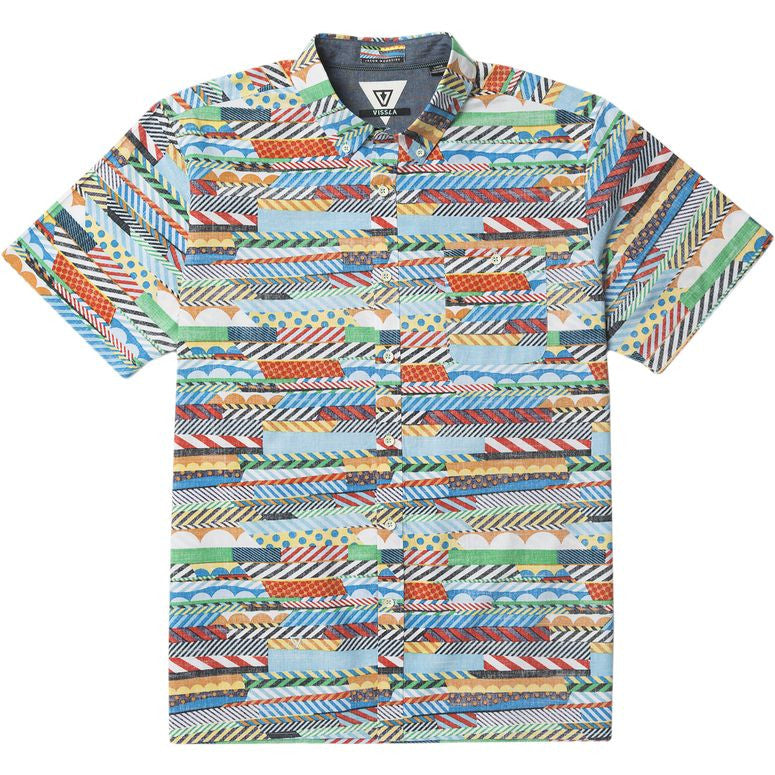 Collared Shirts - Vissla Woodside Short Sleeve - Surf Ontario