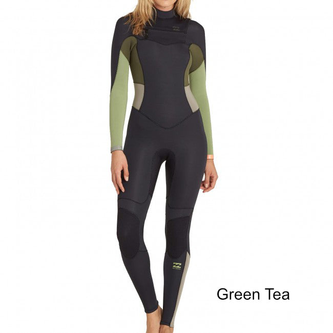 3/2 Women's Billabong Synergy EZ Chest Zip Fullsuit - Surf Ontario