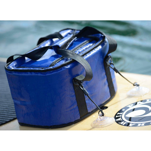 Soft Cooler with suction cup tie downs in Silver - Surf Ontario