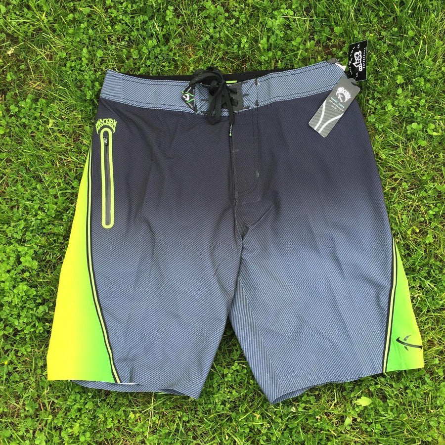Boardshorts - Lost Black Dart Fade - Yellow
