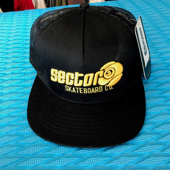 64b9b5b38800e Caps - Sector9 Skateboards - Yellow on Black - Surf Ontario