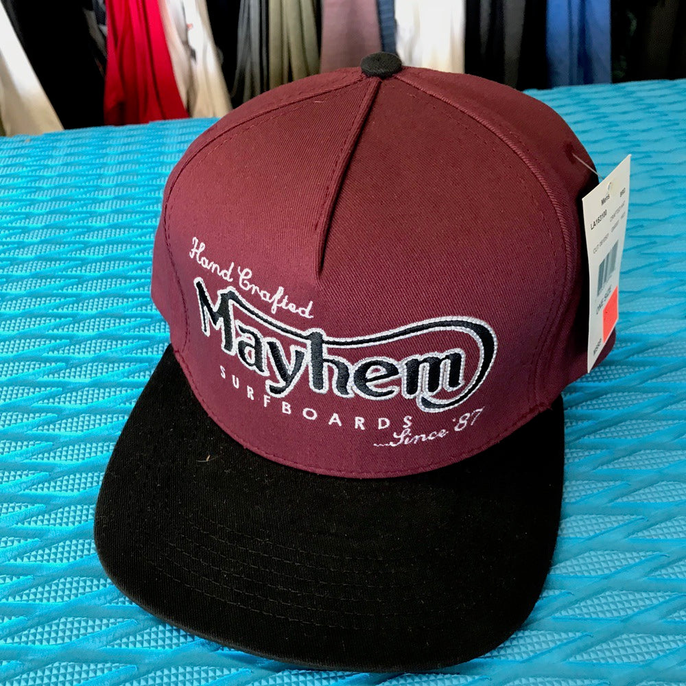 Caps - Lost - Hand Crafted Hat Mayhem Burgundy - Surf Ontario