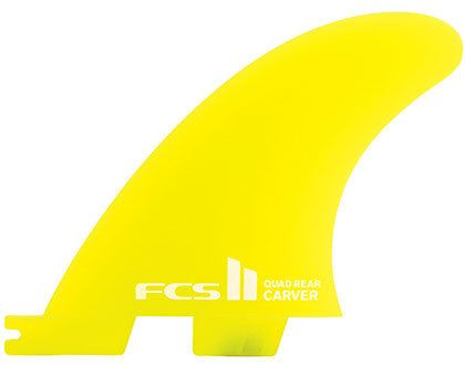 FCS II QUAD REAR - Carver Neo Glass Set - Small - Surf Ontario
