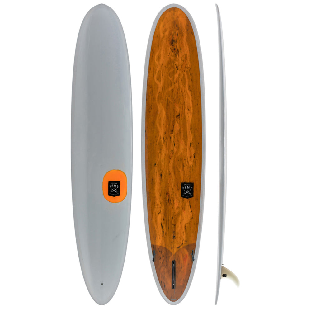Creative Army - 9'1 Jive PU Grey Orange Tint - poly - Surf Ontario