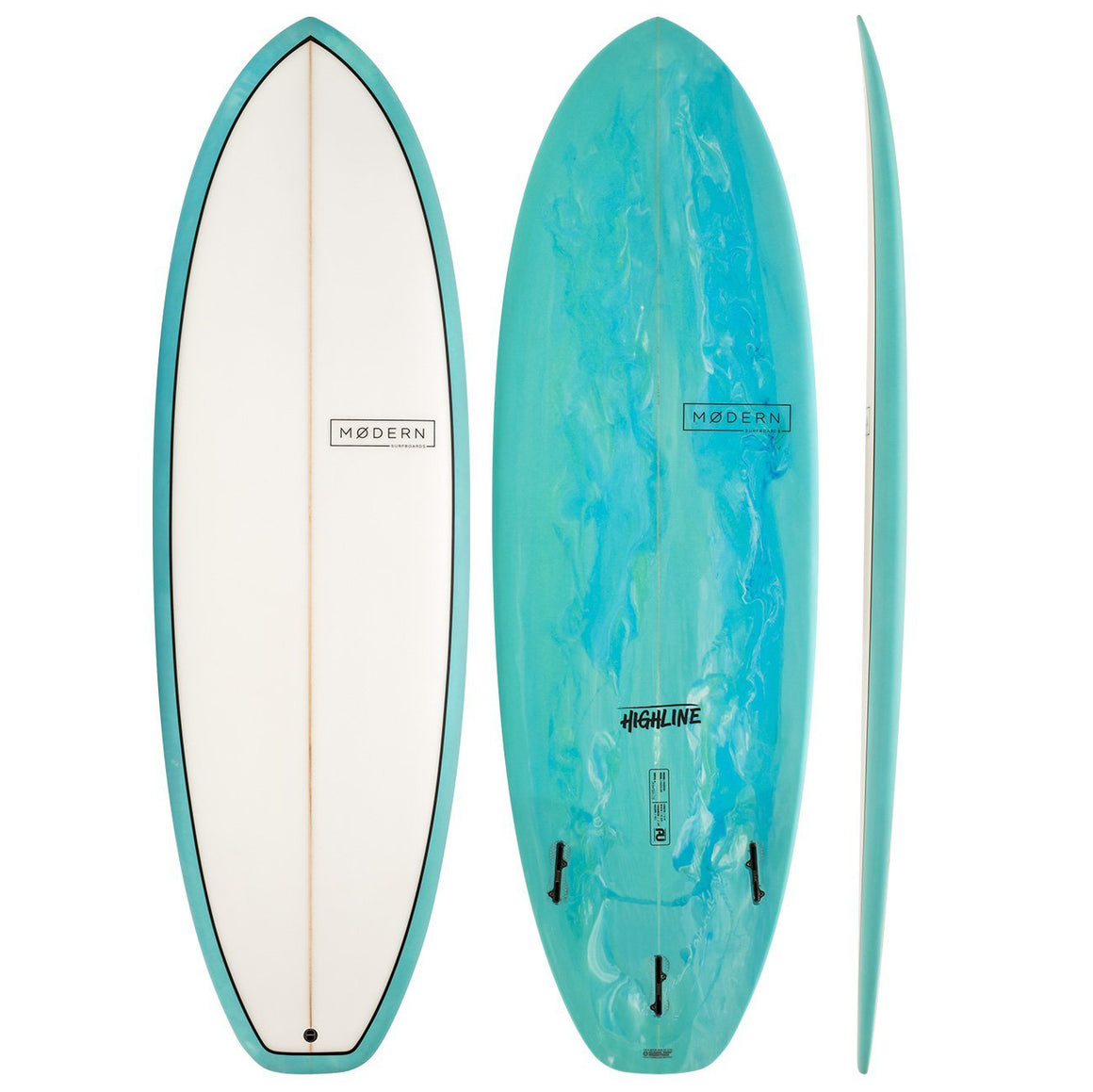 Modern Highline 6'8 PU Sea Tint