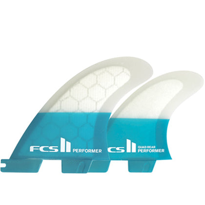 FCS II Performer PC Teal Medium Quad Fins