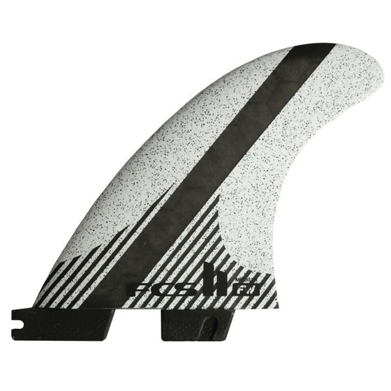 FCS II TRI-QUAD - FW PC Carbon Fin Set - White - Medium