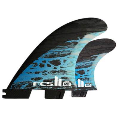 FCS II 5 FIN - FCSII (Matt Biolos) MB PC Carbon Blue Tri-Quad (L)
