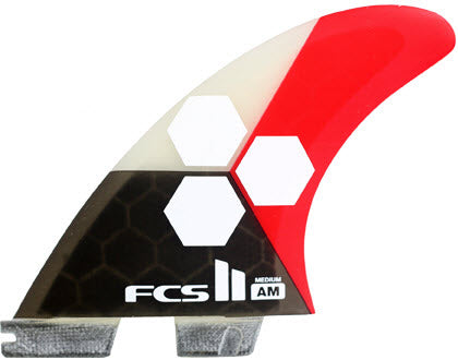 FCS II TRI-QUAD - AM PC Medium Flame (Red/White/Black) (M)
