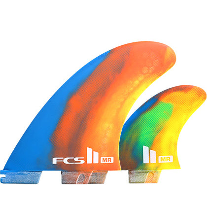 FCS II MR PC XLarge Tri Retail Fins Multi Colour Swirl