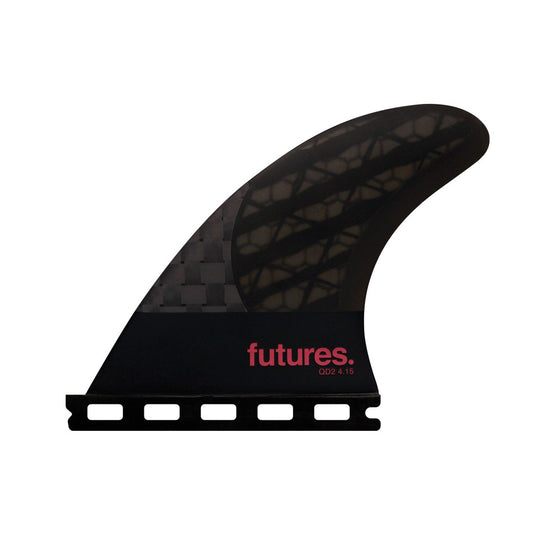 Futures Blackstix 3.0 QUAD TRAILERS - Smoke/Violet - QD2 4.15 80/20