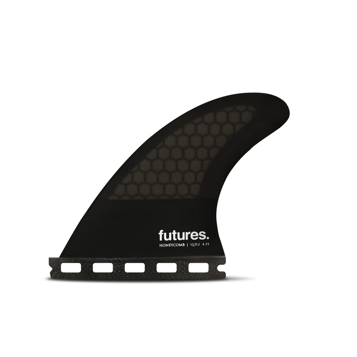 FUTURES QUAD TRAILERS (2 FIN SET) - QD2 QD2 4.15 Honeycomb - Smoke/Black/White