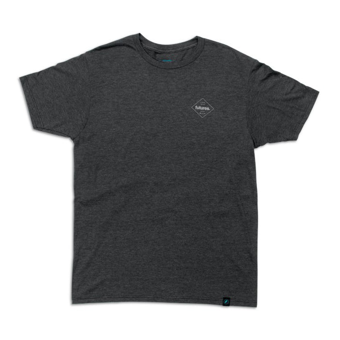 Future Fins - Diamond Tee - Charcoal