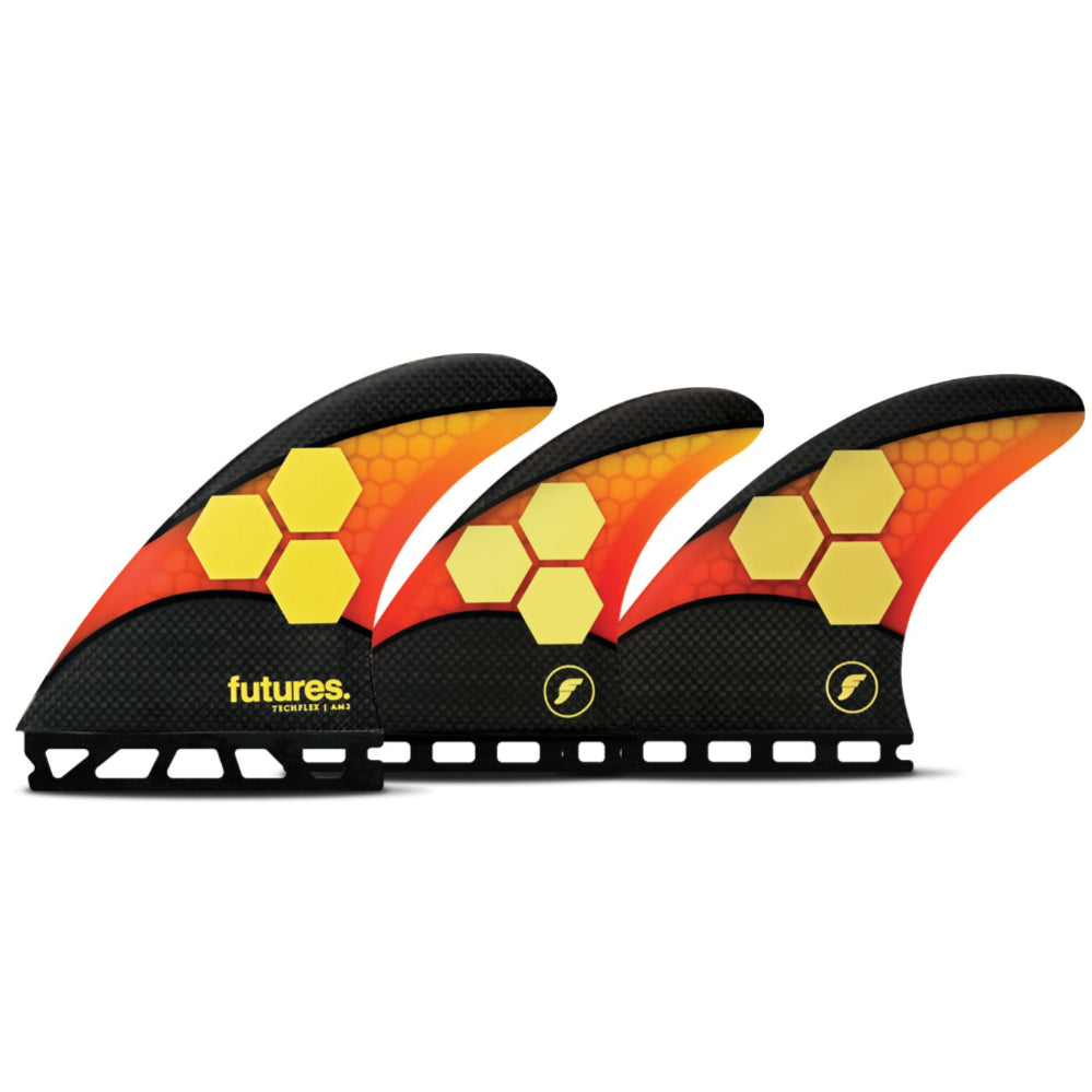 Futures - 5-FIN SET - AM2 - Techflex - Orange/Red
