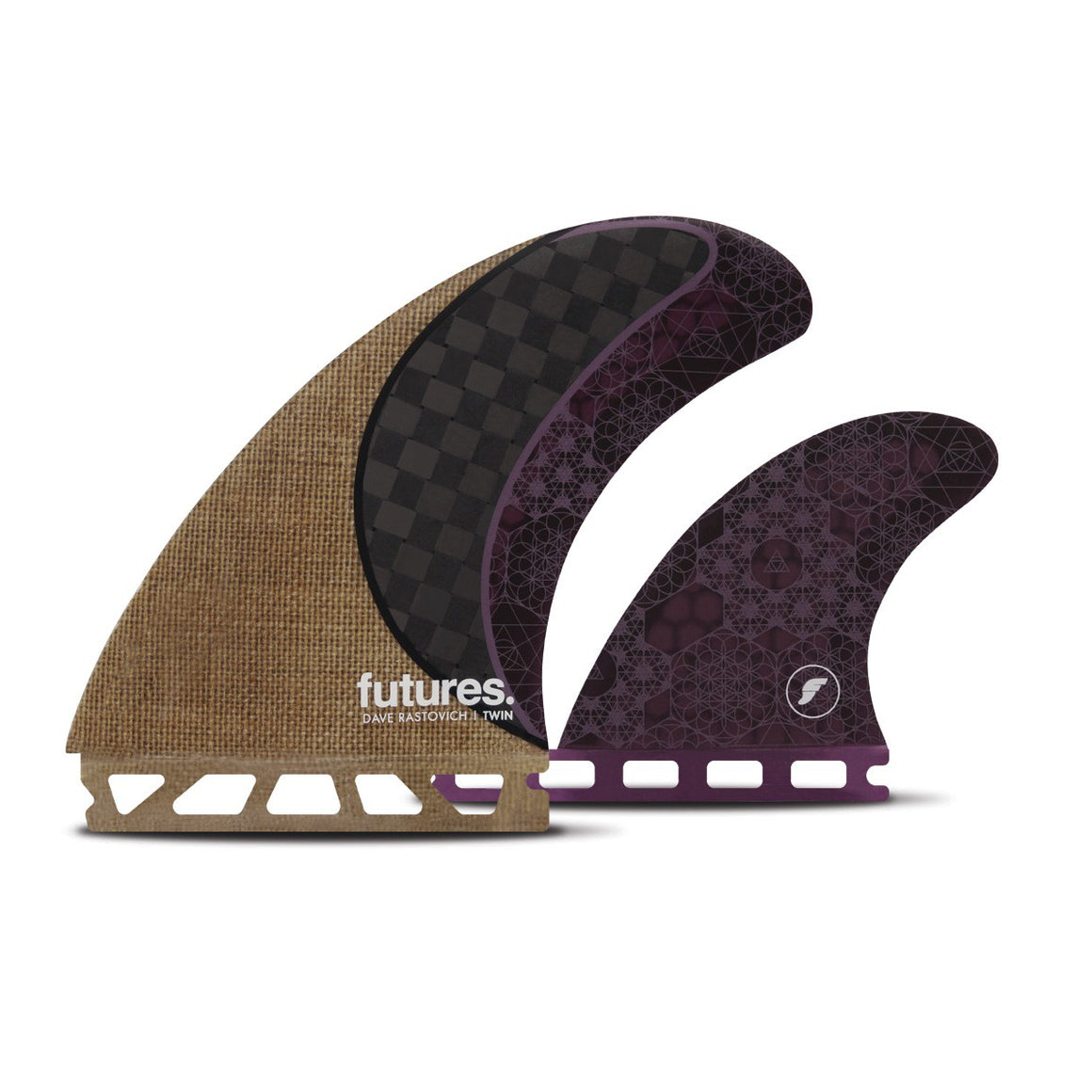 Futures - TWIN+ 1 - Rasta Keel - Jute/Carbon/Purple