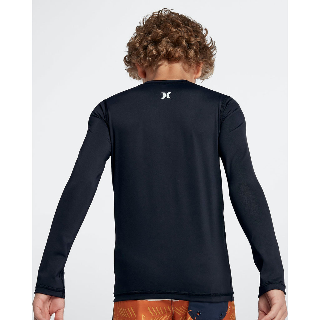 Hurley Youth Rashies: Boys OAO Rash Guard L/S - 010/Black