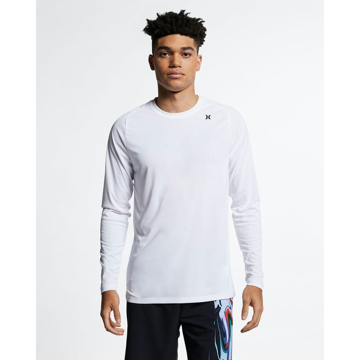 Men's Rashies Hurley Quick Dry T-Shirt L/S - White