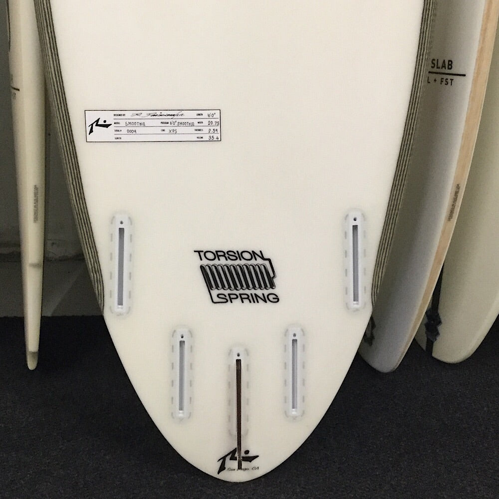 RUSTY 6'0 SMOOTHIE - TORSION SPRING - 5 FIN FUT