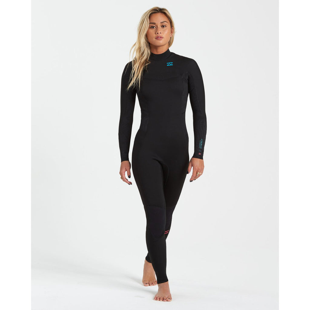 4/3 Women's Billabong 403 Furnace Synergy Back Zip - BLK