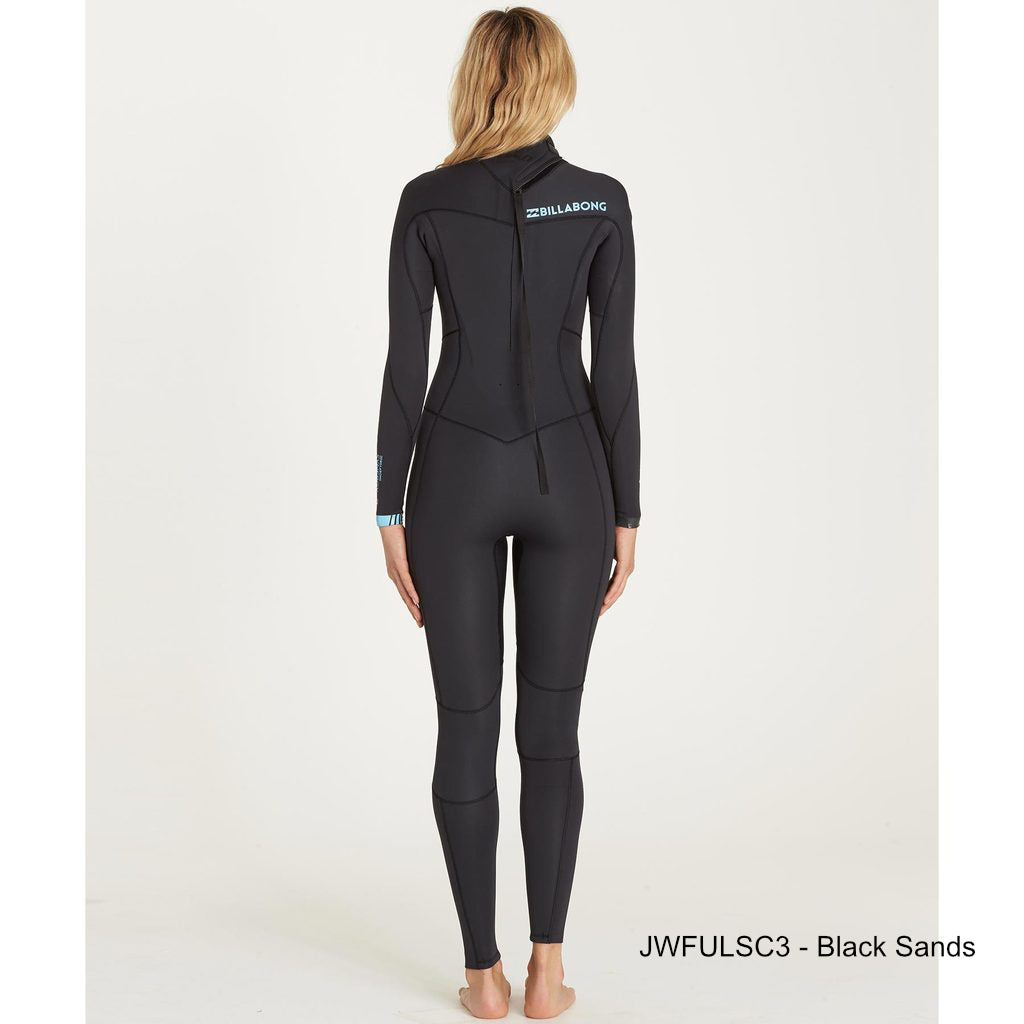 3/2 Women's Billabong Synergy Back Zip fullsuit - Surf Ontario