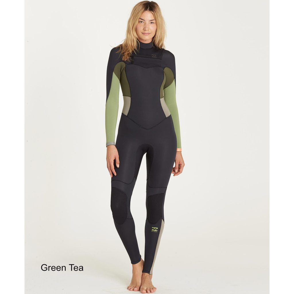 4/3 Women's Billabong Synergy Chest zip Fullsuit - Surf Ontario