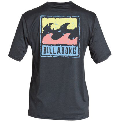 Men's Rash Guard - Billabong Psycho Wave Loose Fit Short Sleeve