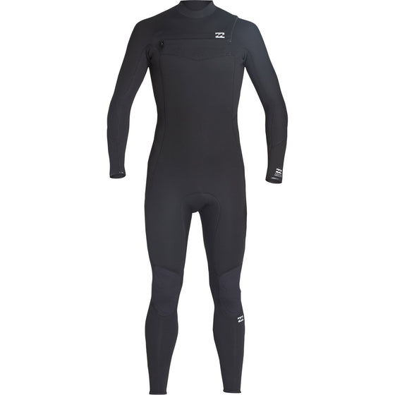 3/2 Mens Billabong Furnace Absolute GBS Chest Zip Fullsuit Black