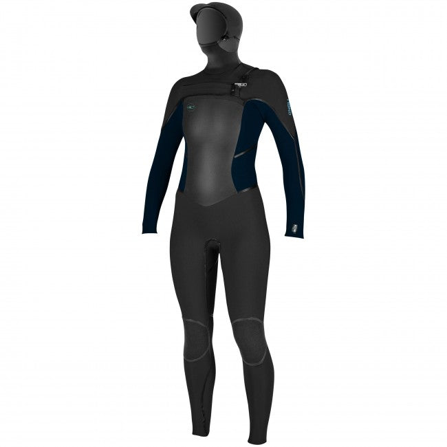 5.5/4 O'Neill Women's Psycho Tech Hooded Chest Zip Wetsuit** - Surf Ontario