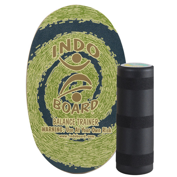 Indo Board Original w/Roller - Rasta (Green colour) - Surf Ontario