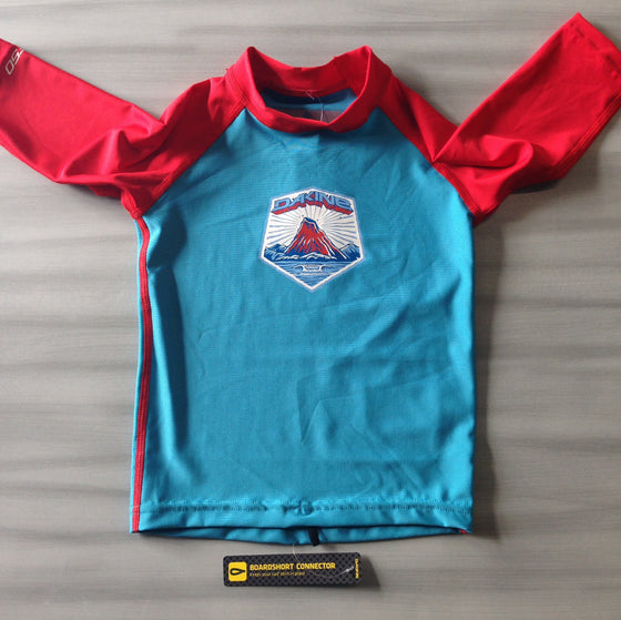 Dakine Toddler Rashies: Dakine Toddler 3/4 Sleeve Blue/Red - Surf Ontario