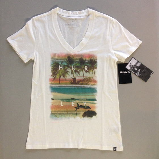 Hurley Women's Clothing: Lakey Peterson V-Neck White