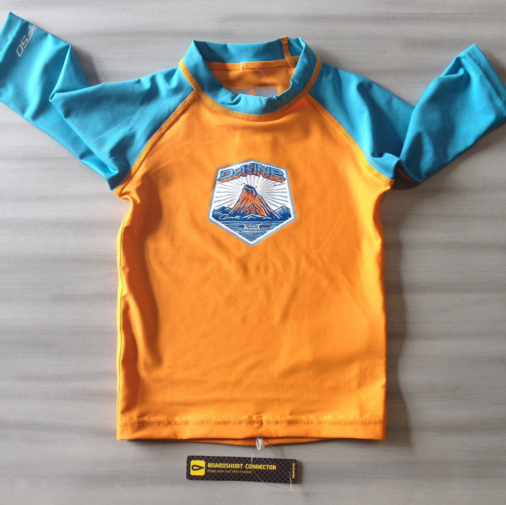 Dakine Toddler Rashies: Dakine Toddler 3/4 Sleeve Orange/Blue - Surf Ontario