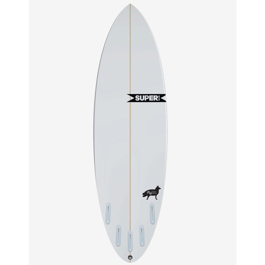 Super Brand 5'10 Pig Dog  - Clear Poly 5-FCSII