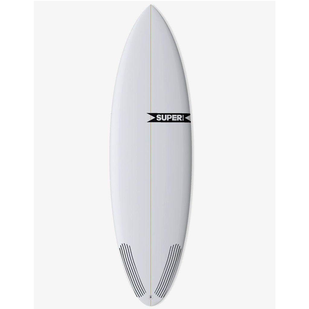 Super Brand 5'11 Pig Dog  - Clear Poly 5-FUT