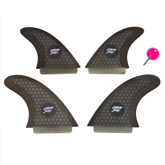 Catch Surf Fins - Hi-Perf Honeycomb Quad Fin Set Black